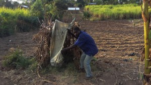 The Water Project : 11-kenya4737-duncan-next-to-his-latrine