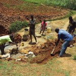 The Water Project: Shitaho Community B -  Committee Helping Dig Trenches