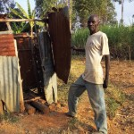 The Water Project: Mumuli Community A -  Mr Francis Next To His Latrine