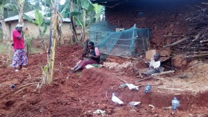 The Water Project:  Mrs Lihala Relaxes In Her Backyard