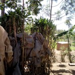 The Water Project: Shikoti Community B -  Bathing Shelter