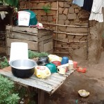 The Water Project: Lutali Community, Lukoye Spring -  Dish Rack And Clothesline