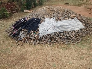The Water Project:  More Clothes Drying On Ground