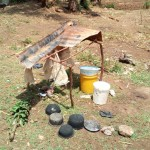The Water Project: Mukhuyu Community, Shikhanga Spring -  Broken Dish Rack