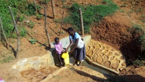 The Water Project:  Mother And Son Fetch Water
