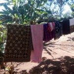 The Water Project: Elunyu Community, Saina Spring -  Clothesline