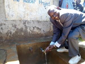 The Water Project : 2-kenya4597-headteacher-mr-hesborn-ambeva