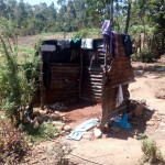 The Water Project: Handidi Community, Matunda Spring -  Bathing Shelter