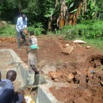 The Water Project: Mutambi Community, Kivumbi Spring -  Construction