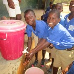 The Water Project: Gbaneh Bana SLMB Primary School -  Hand Washing Station