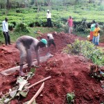 The Water Project: Mutambi Community, Kivumbi Spring -  Planting