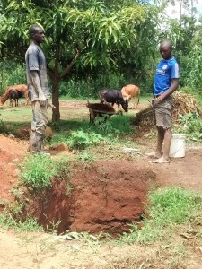The Water Project:  Artisan Discussing Digging A Latrine Pit