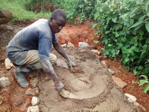 The Water Project : 24-kenya4715-sanitation-platform-construction