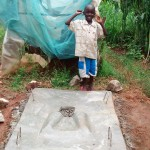 The Water Project: Shikhuyu Community -  Finished Sanitation Platform