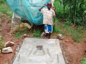 The Water Project:  Finished Sanitation Platform