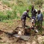 The Water Project : 3-kenya4742-zikhungu-family-at-spring