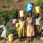 The Water Project: Shitoto Community A -  Girls Fetch Water From Manga Spring