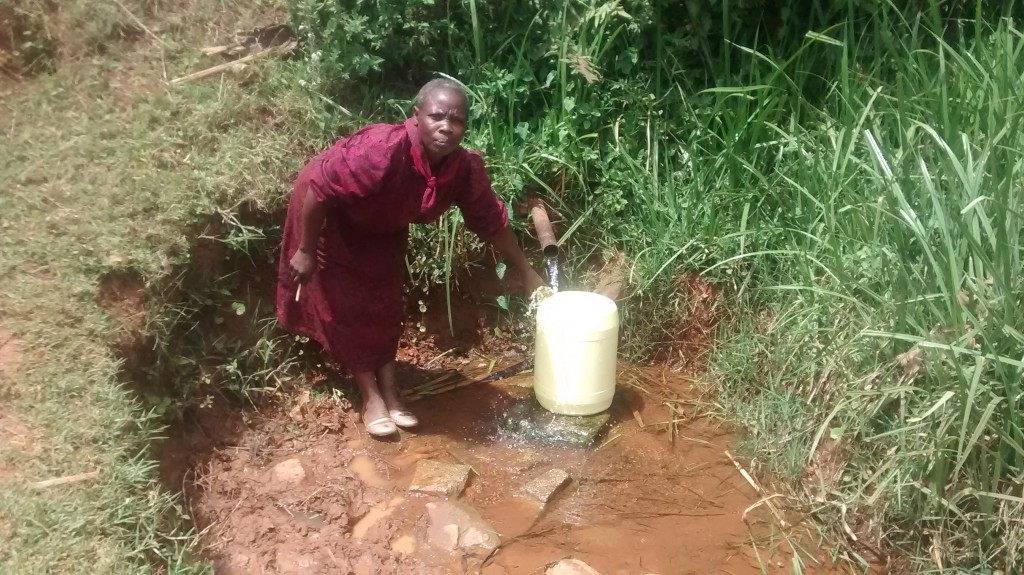 The Water Project : 3-kenya4745-mrs-lubanga