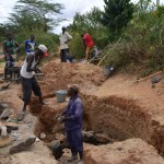 The Water Project: Mbuuni Community A -  Well Construction