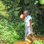 The Water Project: Kasongha Community, 16 Komrabai Road -  Drinking Dirty Water