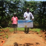 The Water Project: Mutambi Community, Kivumbi Spring -  Sanitation Platform