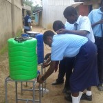 The Water Project: Ikonyero Secondary School -  Hand Washing