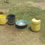 The Water Project: Futsi Fuvili Community A -  Water Containers