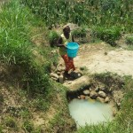 The Water Project: Mukhuyu Community, Shikhanga Spring -  Fetching Water