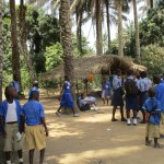 The Water Project: Gbaneh Bana SLMB Primary School -  Students Outside