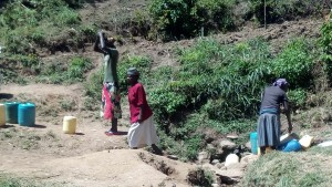 The Water Project:  Activity Around Matunda Spring