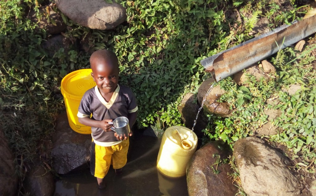 The Water Project : 6-kenya4743-waiting-for-container-to-fill