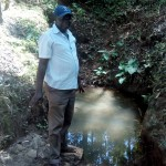 The Water Project: Elunyu Community, Saina Spring -  Mr Erastus