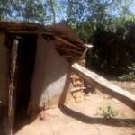 The Water Project: Lutali Community, Lukoye Spring -  Collapsing Latrine