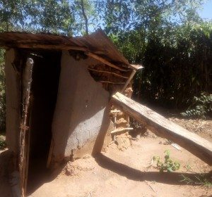 The Water Project:  Collapsing Latrine