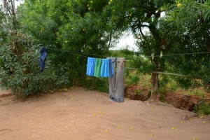 The Water Project:  Pius Household Clothesline