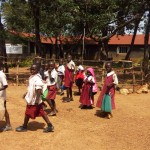 The Water Project: Bukura Primary School -  Older Students Have Lunch At School
