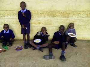 The Water Project:  Students Eating During Break