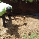 The Water Project: Visiru Community, Kitinga Spring -  Foundation Work