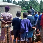 The Water Project: Ebusiloli Primary School -  Tank Maintenance