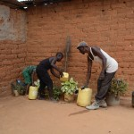 The Water Project: Kivani Community -  Household Watering