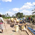 The Water Project: Ilinge Community A -  Water For Construction