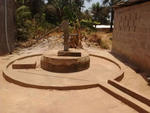The Water Project:  Seasonal Well During Dry Months