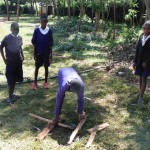 The Water Project: Ebusiloli Primary School -  Students Making A Ladder