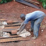 The Water Project: Mahanga Community -  Sanitation Platform Construction