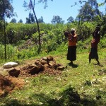 The Water Project: Murumba Community -  Collecting Materials