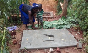 The Water Project:  Mrs Mwinamo At Her Newly Casted Platform