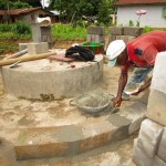 The Water Project: Tombo Bana Community -  Bricking The Well