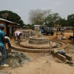 The Water Project: Petifu Junction Community -  Well Pad Construction