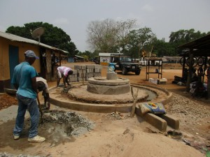 The Water Project:  Well Pad Construction
