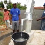 The Water Project: Tombo Bana Community -  Pump Installation